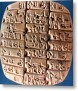 Sumer Tablet Of Accounts Metal Print
