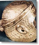Sumerian Gold Helmet Metal Print