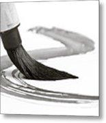 Sumi-e Brush 2 Metal Print