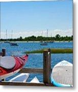 Summer Afternoon Boating Metal Print