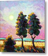 Summer Afternoon In The Fields Metal Print