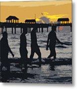 Summer At The Beach Metal Print