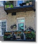 Summer Balconies In Chicago Illinois Metal Print