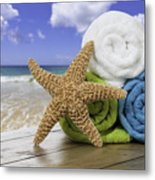 Summer Beach Towels Metal Print by Amanda Elwell