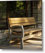 Summer Bench Metal Print
