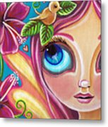 Summer Bliss Fairy Metal Print by Jaz Higgins