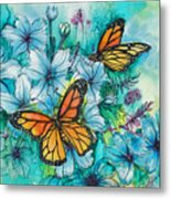 Summer Butterflies Metal Print