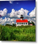 Summer Clouds At East Point Metal Print