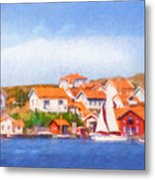 Summer Coast Metal Print