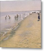 Summer Day At The South Beach Of Skagen Metal Print