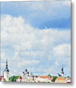 Summer Day In Tallinn Metal Print