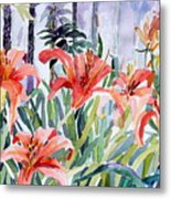 My Summer Day Liliies Metal Print