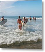 Summer Days Byron Waves Metal Print