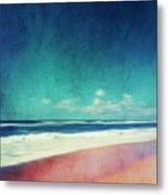 Summer Days IIi - Abstract Beach Scene Metal Print