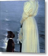 Summer Evening At Skagen Metal Print