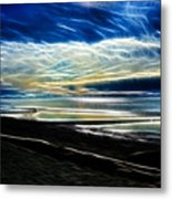 Summer Evening At The Beach Metal Print
