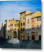 Summer Evening In San Gimignano Metal Print