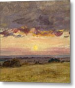 Summer Evening With Storm Clouds Metal Print