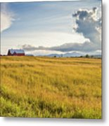 Summer Farmscape Metal Print