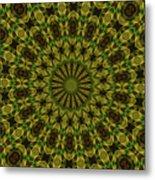 10696 Summer Fire Mask 54 Kaleidoscope 1 Metal Print