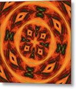 10697 Summer Fire Mask 54 Kaleidoscope 2 Metal Print