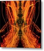 10658 Summer Fire Mask 58 - Dance Of The Fire Queen Metal Print