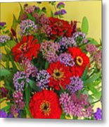 Summer Flower Bouquet Metal Print
