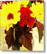 Summer Flowers Yellow Daisies Metal Print