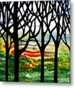 Summer Forest Abstract  Metal Print