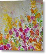 Summer Fragrance Abstract Painting Metal Print by Julia Apostolova