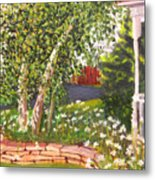 Summer Garden Metal Print by Lea Novak