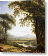 Summer Harvest On Caserta Plain Metal Print