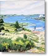 Summer In Lunenburg Harbour Metal Print