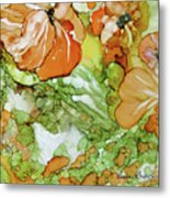 Summer In Orange Metal Print
