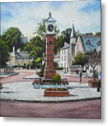 Summer In The Square Metal Print
