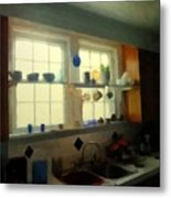 Summer Light In The Kitchen Metal Print