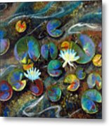 Summer Lillies Metal Print