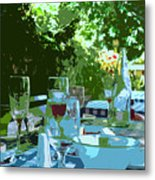 Summer Lunch Remembered Metal Print