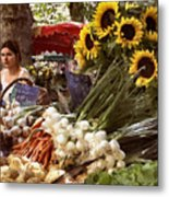 Summer Market In Provence Metal Print