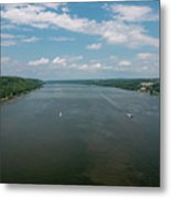 Summer Morning View Over The Hudson Metal Print