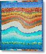 Summer Mosaic Metal Print