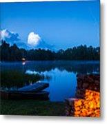 Summer Nights On The Pond Metal Print