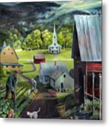 Summer On The Back Road In Vermont Metal Print