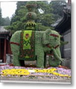 Summer Palace Elephant Metal Print