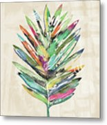 Summer Palm Leaf- Art By Linda Woods Metal Print