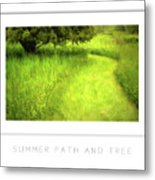 Summer Path And Tree Poster Metal Print