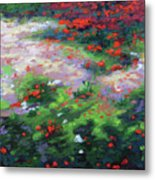 Summer Petals On A Forest Ground Metal Print