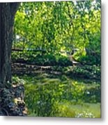 Summer Reflections At Lafayette Park Metal Print