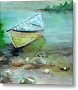 Summer Rowboat Metal Print