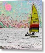Summer Sailin Metal Print